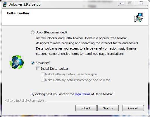 Delta Toolbar installer