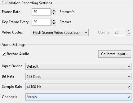 ActivePresenter audio